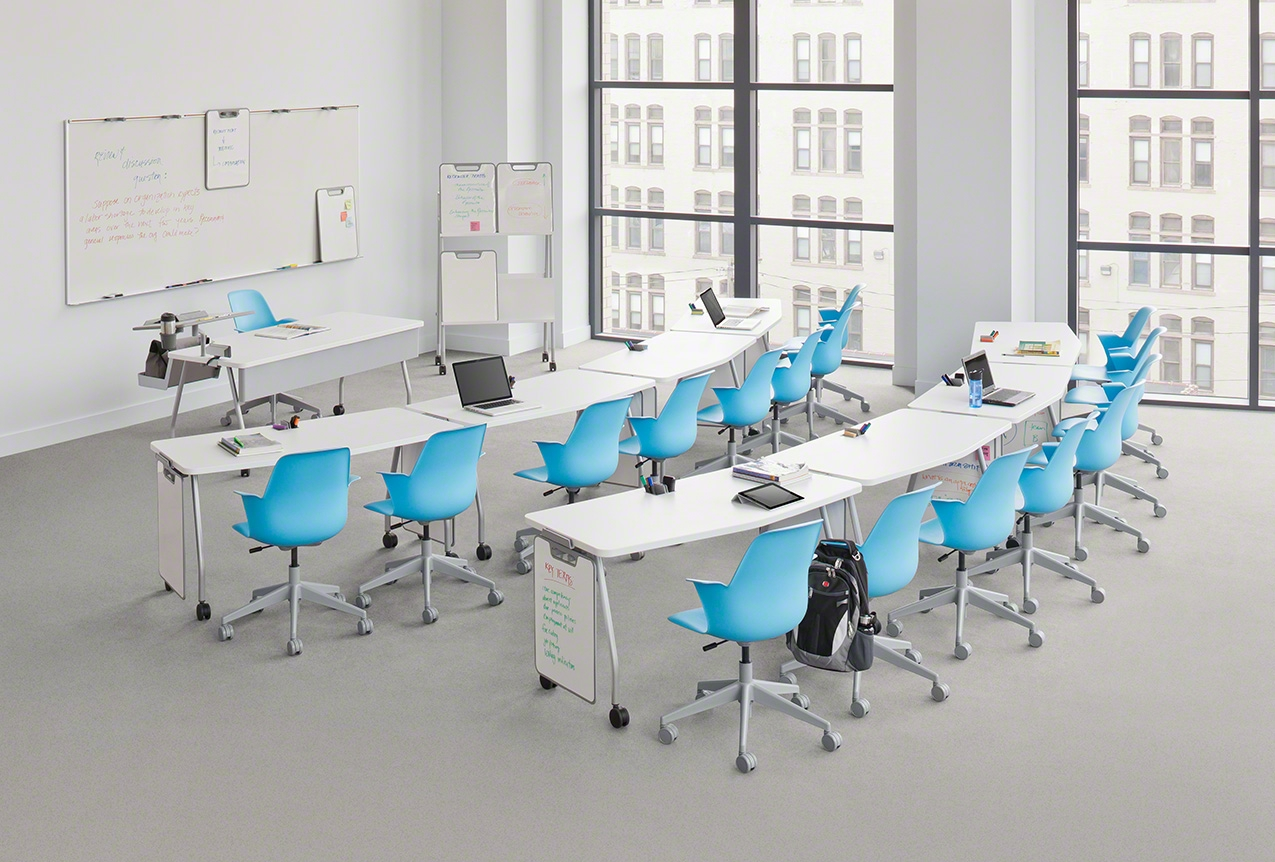 C mo dise ar el espacio y el mobiliario de un aula for Muebles para aulas